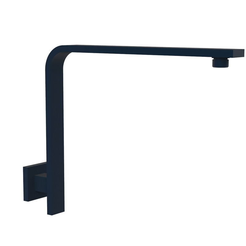 BLACK RECTANGLE L - SHAPE SHOWER ARM - PRY030-B
