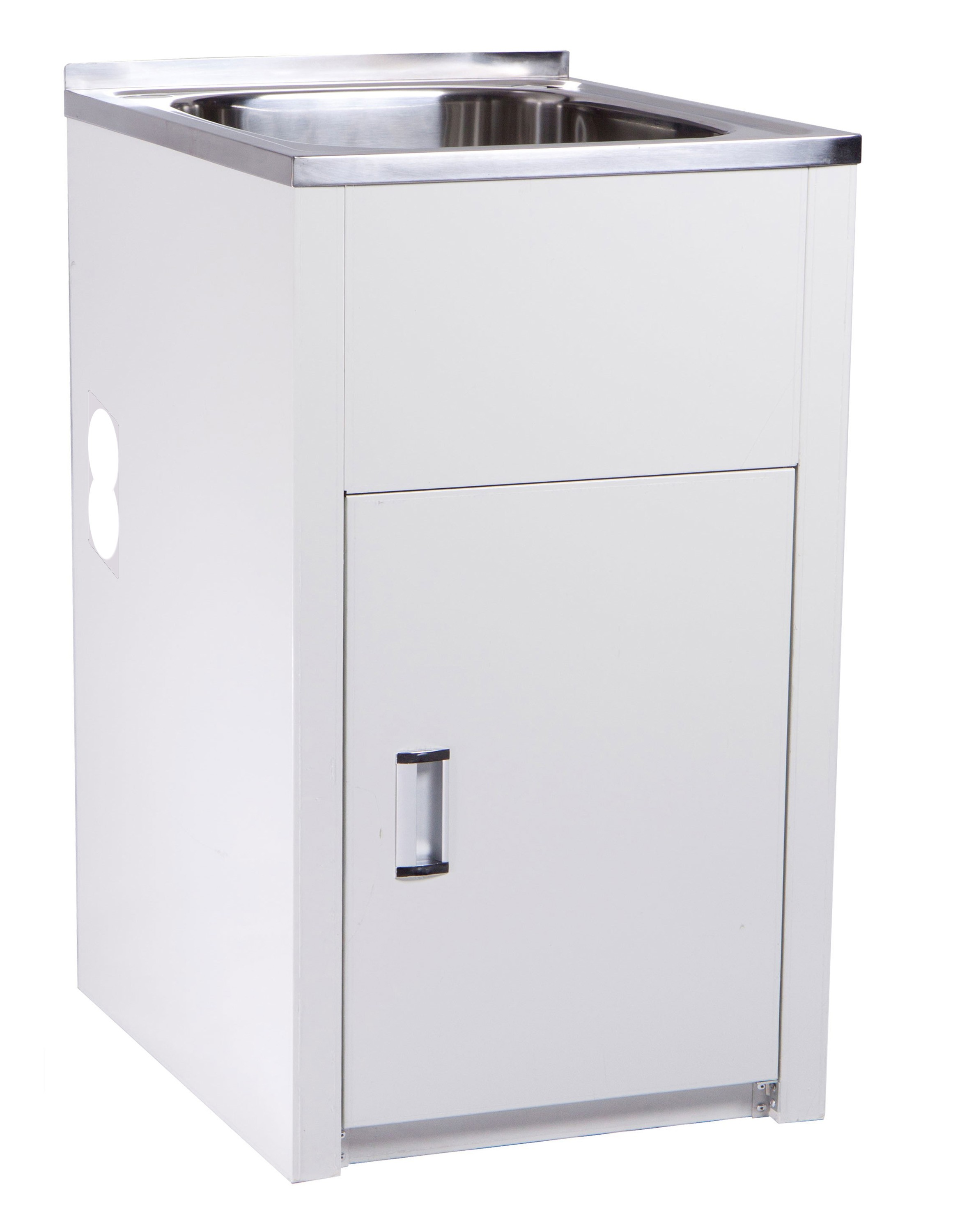 35L COMPACT LAUNDRY TUB & CABINET WITH SIDE HOLE- YH235L-H