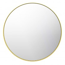 OTUS ROUND HANGING MIRROR BRUSHED GOLD - FRO-01BG