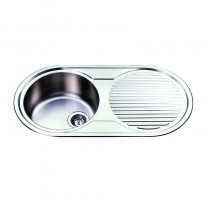 ROUND SINGLE BOWL SINK - NH1500LHB