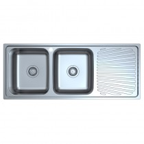 OTUS DOUBLE BOWL & SINGLE DRAINER KITCHEN SINK - P0011848-2LHB