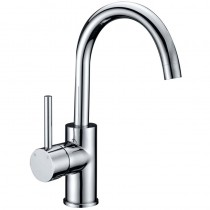 OTUS PIN HANDLE GOOSENECK BASIN MIXER - PC-2002SB
