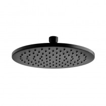 CORA BLACK ROUND SHOWER HEAD 200mm - PRB1056N-B