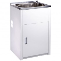 35L LAUNDRY TUB & CABINET WITH SIDE HOLE- YH235B-H
