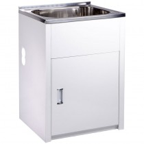 45L LAUNDRY TUB & CABINET WITH SIDE HOLE - YH236B-H